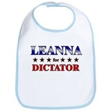 LEANNA for dictator Bib