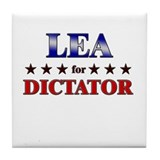 LEA for dictator Tile Coaster