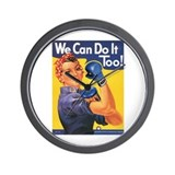 Emma May ( Rosie the Riveter ) Wall Clock
