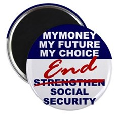 "End Social Security 2.25"" Magnet (10 pack)"