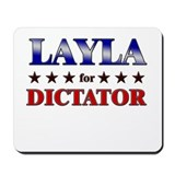 LAYLA for dictator Mousepad