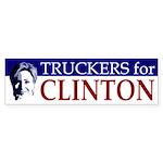 Truckers for Clinton bumper sticker