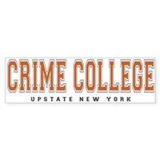 ThePulp.Net Crime College Bumper Car Sticker
