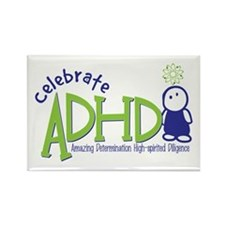 Celebrate ADHD Rectangle Magnet