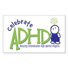 Celebrate ADHD Rectangle Decal