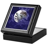 Moon Wolf ~ Keepsake Box (White Border)