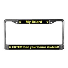 Honor Student Briard License Plate Frame