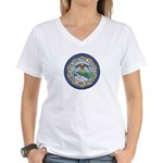 Philadelphia Police Intel  Women's V-Neck T-Shirt