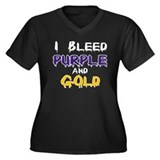 I Bleed Purple and Gold Women's Plus Size V-Neck D