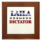 LAILA for dictator Framed Tile