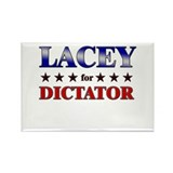 LACEY for dictator Rectangle Magnet