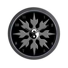 Yin Yang Throwing Star Wall Clock