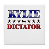 KYLIE for dictator Tile Coaster