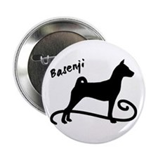 "basenji dog swirl 2.25"" Button"