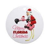 Merry Florida Christmas Ornament (Round)