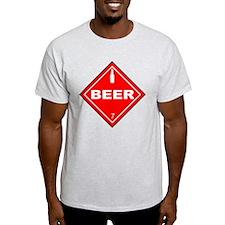 Beer Hazardous Material Sign T-Shirt
