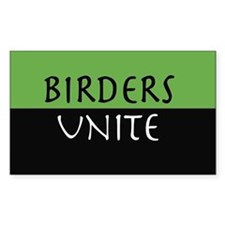 """Birders Unite"" Eco Green STICKER"