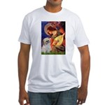 Angel3/Shih Tzu (P) Fitted T-Shirt