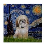 Starry / Shih Tzu (p) Tile Coaster