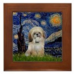 Starry / Shih Tzu (p) Framed Tile