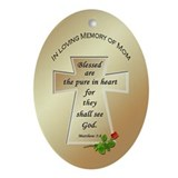In Loving Memory of Mom Oval Ornament