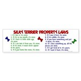Silky Terrier Property Laws 2 Bumper Bumper Sticker