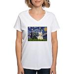 Starry /Scotty pair Women's V-Neck T-Shirt