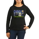Starry /Scotty pair Women's Long Sleeve Dark T-Shi