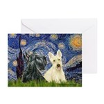Starry /Scotty pair Greeting Cards (Pk of 10)
