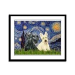 Starry /Scotty pair Framed Panel Print