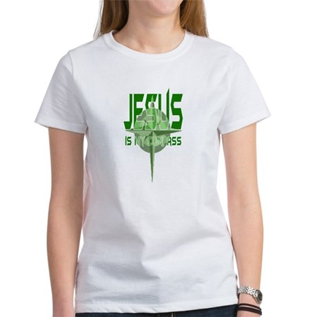 Jesus is My Compass - Green Women's T-Shirt