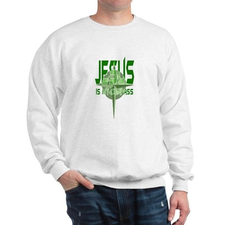 Jesus is My Compass - Green Sweatshirt
