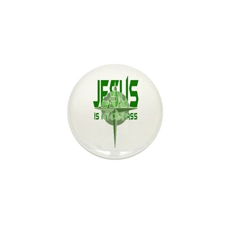 Jesus is My Compass - Green Mini Button (10 pack)