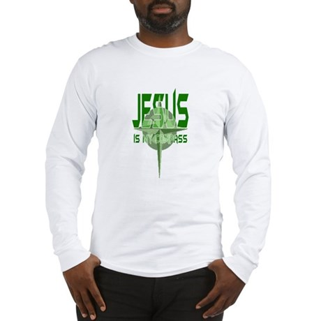 Jesus is My Compass - Green Long Sleeve T-Shirt