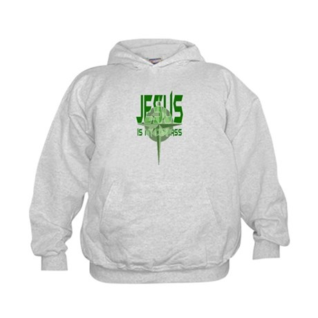 Jesus is My Compass - Green Kids Hoodie