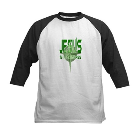 Jesus is My Compass - Green Kids Baseball Jersey