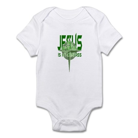 Jesus is My Compass - Green Infant Bodysuit