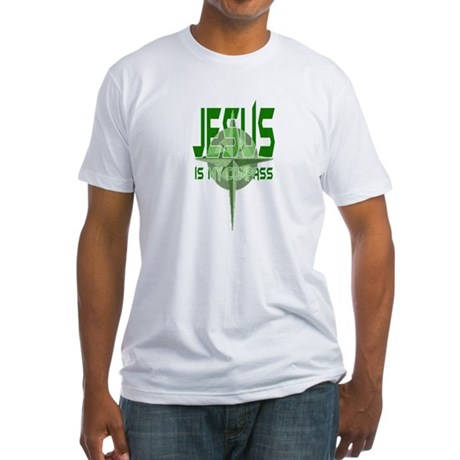 Jesus is My Compass - Green Fitted T-Shirt