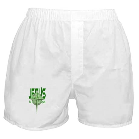 Jesus is My Compass - Green Boxer Shorts