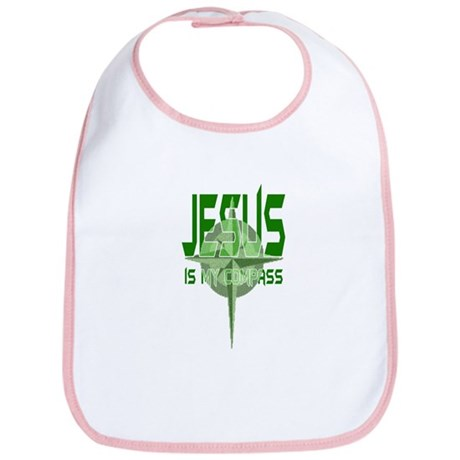 Jesus is My Compass - Green Bib
