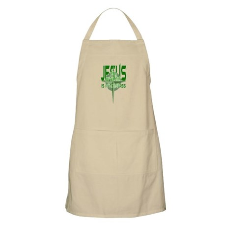 Jesus is My Compass - Green BBQ Apron