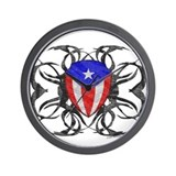 Puerto Rico Tribal Wall Clock