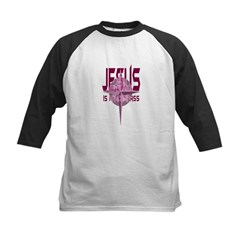 Jesus is My Compass - Red Kids Baseball Jersey