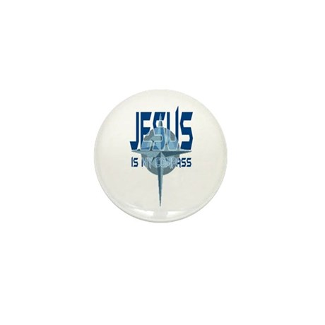 Jesus is My Compass - Blue Mini Button