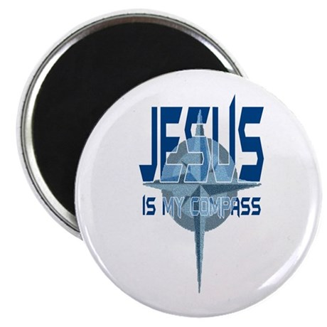 Jesus is My Compass - Blue Magnet