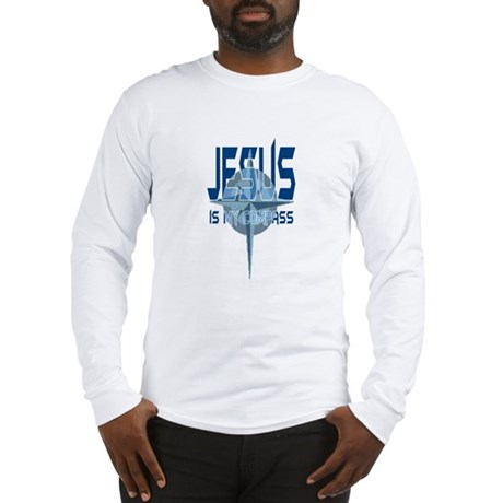 Jesus is My Compass - Blue Long Sleeve T-Shirt