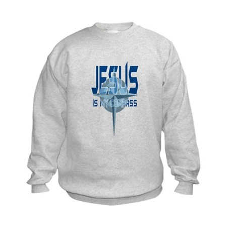 Jesus is My Compass - Blue Kids Sweatshirt