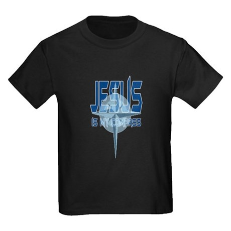 Jesus is My Compass - Blue Kids Dark T-Shirt