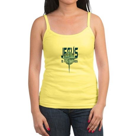 Jesus is My Compass - Blue Jr. Spaghetti Tank