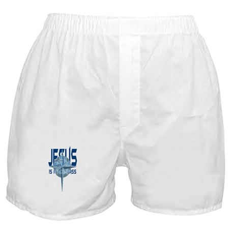 Jesus is My Compass - Blue Boxer Shorts
